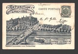Liège - Exposition Universelle & Internationale Liège 1905 - Fragnée - Entrée Du Pont De L'Exposition - Dos Simple - Luik