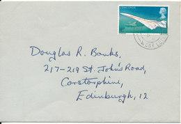 Great Britain Cover Single Franked Concorde Sent To Denmark 6-3-1969 - 1952-.... (Elisabeth II.)