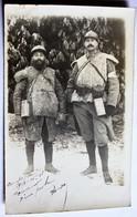 Tenue Peau De Mouton Guerre 14 18 à Voir ! Carte Photo Portrait 2 Poilu Borda Brassard Croix Rouge Guerre 1914 1918 WWI - Guerre 1914-18