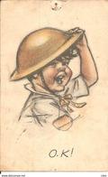 Carte Postale OK Enfant Militaire Germaine Bouret - Bouret, Germaine