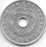 *greece 20 Lepta 1954  Km 79  Xf+ - Grèce