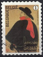 Belgique 2011 Oblitéré Used Henri De Toulouse Lautrec Aristide Bruant Dans Son Cabaret - Usados