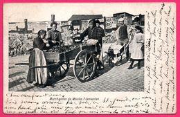 Marchandes De Moules Flamandes - Charrette - Affiche Publicitaire - Animée - 1905 - Edit. V.E.D. - Oblit. FAUVILLERS - Fauvillers