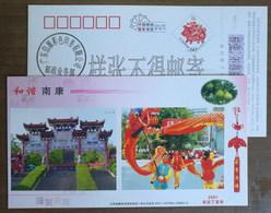Dragon Dance,dongshan Park,China 2007 Harmonious Nankang Advertising Pre-stamped Card,specimen Overprint - Dance