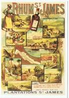 RHUM ST JAMES - Reproduction Gravure Des Anciennes Plantations Saint James - Handel