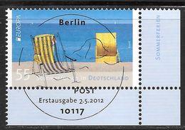 BRD 2012 / MiNr.   2933  Rechts Unten Ecke Mit Ersttagsstempel  O / Used  (d810) - BRD