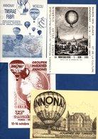 Lot De 4 Cartes / Montgolfière / Annonay - Maximumkarten