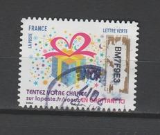 """FRANCE / 2017 / Y&T N° AA 1490 : """"Plus Que Des Vœux"""" (Paquet Cadeau) - Oblitéré 2017 12. SUPERBE ! - France"""