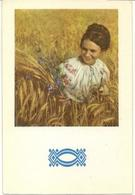 Pocket Calendar Russia - USSR - 1972 - Girl - Ethnos - Ears - Hair - Vintage - Beautiful - Calendars