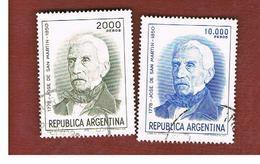ARGENTINA - SG 1600.1600a  - 1978  BICENTENARY SAN MARTIN (COMPLET SET OF 2)     -   USED ° - Argentina