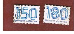 ARGENTINA - SG 1601.1602  - 1978   NUMERAL    -   USED ° - Oblitérés