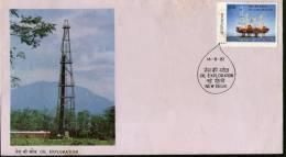 India 1982 Oil Exploration Sc 985 FDC + Blank Folder - Minerals