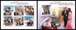 GUINEA BISSAU 2011 - Prince William & Kate - YT 3746-51 + BF616 - Koniklijke Families
