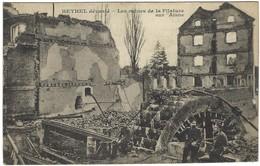 08 - Rethel Dévasté - Les Ruines De La Filature Sur L'Aisne - Usine, Guerre, Bombardements - Rethel