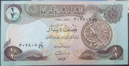 AU10 - Iraq 1985 Banlnote 1/2 Dinar - UNC - Iraq