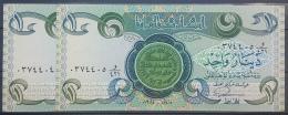 AU10 - Iraq 1984 Banlnote 1 Dinar X2 - UNC - 2 Consecutive Numbers - Iraq