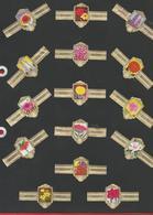 WILLEMS II  -  Série Fleurs -  224 Bagues De Cigare  Différentes Numérotées De 2103 à 2327 - Cigar Bands