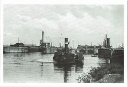 Shipping Postcard Manchester Ship Canal Mode Wheel Lock C1910 Paddle Tug - Tugboats
