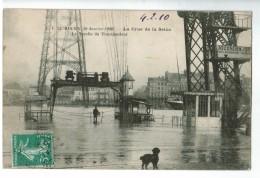 22533    CPA  ROUEN  :  Crue De La Seine Le 30 Janvier 1910 ! La Nacelle Du Transbordeur !! 1910 !! ACHAT DIRECT !! - Rouen