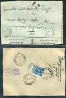 Persia Iran / Russia 4 Part Covers (Fronts Or Reverse) . Teheran Isfahan Astrachan WW1 Censor - Iran