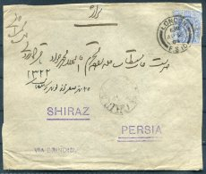 1904 GB London Cover, Hadji Ali Akbar & Sons - Shiraz Via Brindisi Boushir - Iran