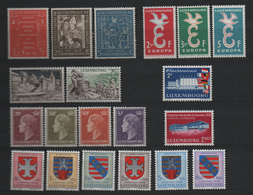 Luxembourg 1958 Year Set, MNH ** Mi 581/600 (Ref: 1901) - Unused Stamps