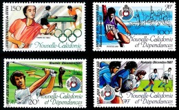 NOUV.-CALEDONIE 1987 - Yv. 546 547 548 562 **   Faciale= 2,51 EUR - Jeux: Golf,  Rugby, Saut, Tennis (4 Val.)  ..Réf.NCE - Nouvelle-Calédonie