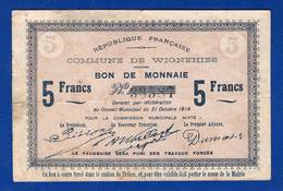 Wignehies  5  Fr   1914   59/2795  Pirot - Bonds & Basic Needs