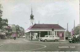 Vlaardingen 1961; Visbank (oude Auto's) - Gelopen. (Kopa) - Vlaardingen