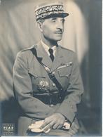 Général CATROUX - Photo Teddy Piaz , Carton 18 X 24 Cm - Guerre, Militaire