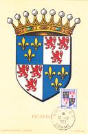 Carte-Maximum FRANCE N° Yvert 951 (PICARDIE) Obl Sp Amiens (Ed Louis) - 1950-59