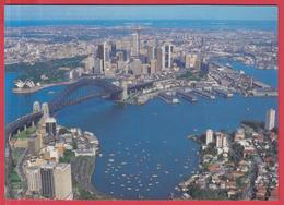 CPM-Australie- SYDNEY -Vue Aérienne Sur Le Plus Beau Port Du Monde **  2 SCANS * - Sydney