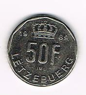 =&  LETZEBUERG  50 FRANCS 1989 - Luxembourg