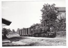 CPM VOIR DOS 19 Le Lonzac Vers Treignac Arrêt Du Train De Marchandises Locomotive Vapeur SNCF N°104 En 1966 - Treignac