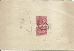 VE2126-Ministero Di Grazia E Giustizia 2x 40 Cent. Effigie (To) In Uso Fiscale 14.3.1874 - Firma Caffaz - Marcophilie