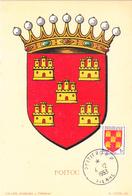 Carte-Maximum FRANCE N° Yvert 952 (POITOU) Obl Sp Poitiers (Ed Louis) - 1950-59
