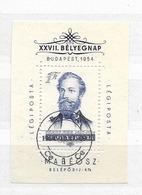 1954 USED Hungary Block 24 - Gebraucht