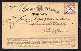 GERMANY EMPIRE 1872. POSTKARTE BRUSTSCHILDE 2 KR MiNr8 (MANUSCRIPT CANCELLATION), CATALOGUE VALUE 450€ / STAMPED - Deutschland