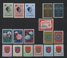 Luxemburg 1959 Year Set, MNH ** Mi 600/617 (Ref: 1902) - Unused Stamps