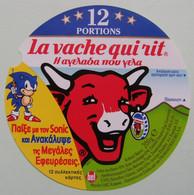 Etiquette Fromage Fondu - Vache Qui Rit - Bel 12 Portions Pub SONIC Grandes Inventions Export   A Voir ! - Fromage