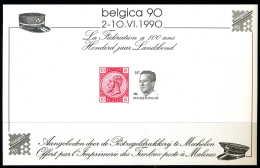 D- [39824] **/Mnh-BELGIQUE 1990 - Feuillet Souvenir, Belgica 90, Timbres Sur Timbres  SNC - Blocs 1962-....
