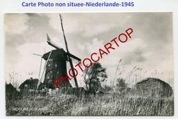 MOULIN A VENT-WINDMUEHLE-CARTE PHOTO Envoyee De GROOTHUSEN-Ostfriesland-1945-NIEDERLANDE- - Windmühlen
