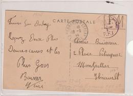 France Carte Postale Avec Cachet FFI Saint Chamond Du 18 09 1944 (cp Terrasse Sur Dolrlay ) - Marcofilie (Brieven)