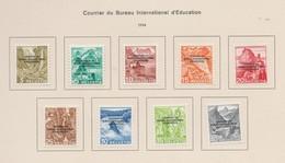 SUISSE SDN 'Courrier Du Bureau International D'Education' 1944:   Petit Lot De Neufs*   TTB - Dienstpost