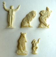 TRES RARES FIGURINES PUBLICITAIRES CAIFFA - LE CIRQUE LOT DE 5 FIGURINES - Figurine Publicitaire - Figurines