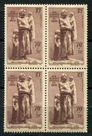 RC 9846 FRANCE N° 447 - MONUMENT AUX MARINS PERDUS EN MER BOULOGNE SUR MER BLOC DE 4 COTE 140€ NEUF ** TB - Ungebraucht
