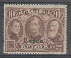 BELGIQUE (EUPEN & MALMEDY):  N°21 * (propre)       - Cote 60€ - - Guerre 14-18