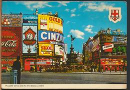 °°° 12186 - UK - LONDON - PICCADILLY CIRCUS AND THE EROS STATUE - 1983 With Stamps °°° - Piccadilly Circus