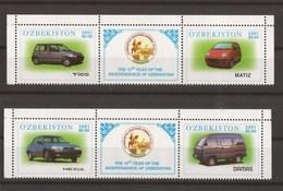Uzbekistan 2001 - MNH - Cars / Transport - Uzbekistan