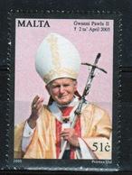 Malta Set Of Stamps From 2005 To Celebrate Pope John Paul II. - Malta